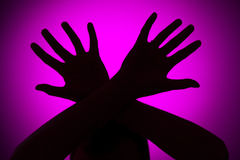 physical-abuse-concept-pink-background-33009755
